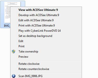 ปิด ACDSEE เมนูคลิกขวาใน Windows Explorer