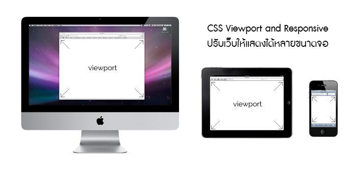 CSS Viewport and Responsive ปรับเว็บให้แสดงได้หลายขนาดจอ
