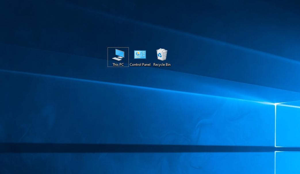 แสดงปุ่ม Control Panel บน Desktop บน Windows 10