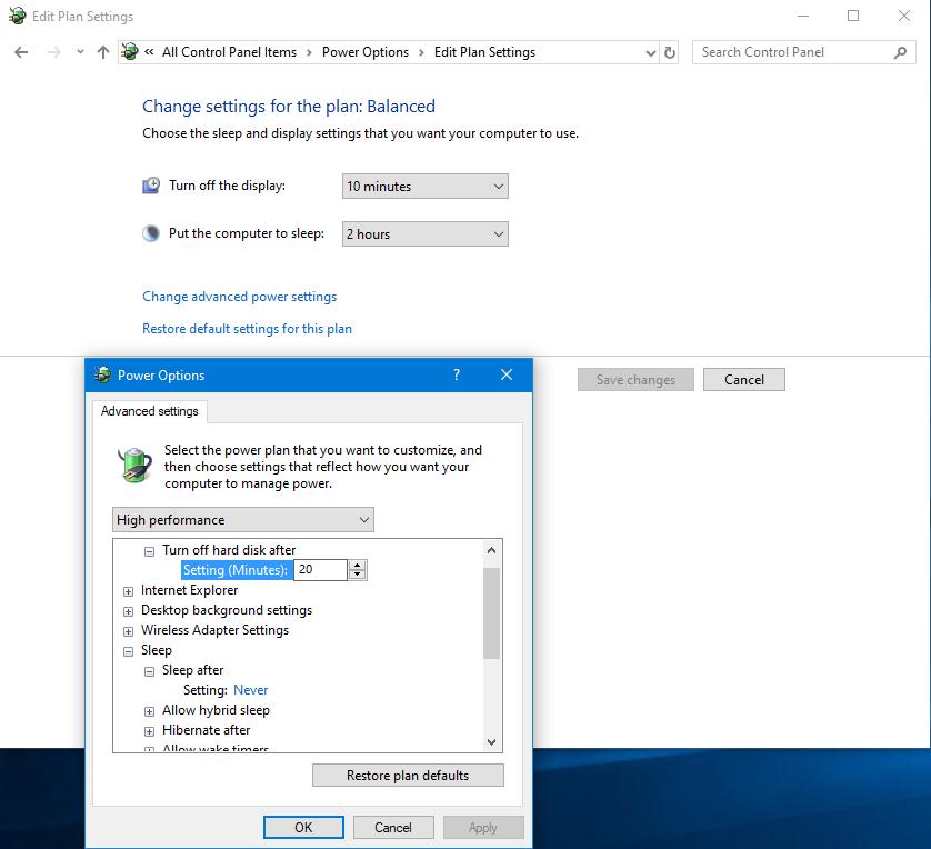 ปิดโหมดนอนหลับ Hybernate Windows 10