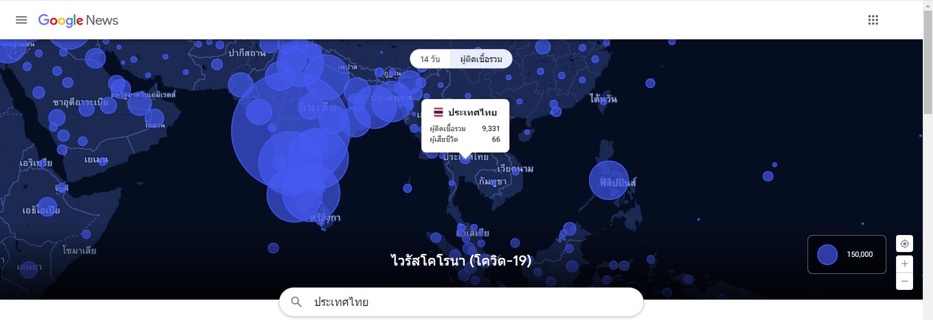 ผู้ติดเชื้อโควิด 2021 ในประเทศไทย