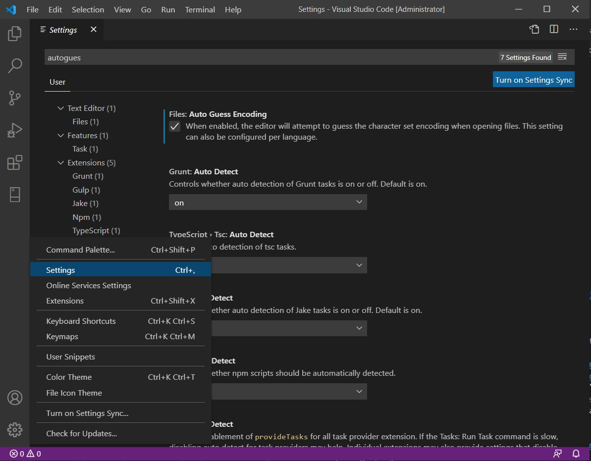 เปิดให้ Visual Studio Code รองรับการเข้ารหัสภาษาไทย
